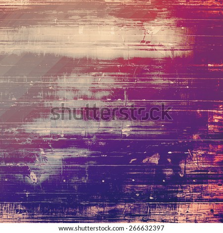 Abstract composition on textured, vintage background with grunge stains. With different color patterns: gray; purple (violet); pink - stock photo