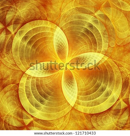 Abstract concentric circle decor. Fractal illustration. - stock photo