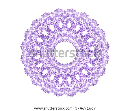 Abstract concentric round shape on white background for design - stock photo