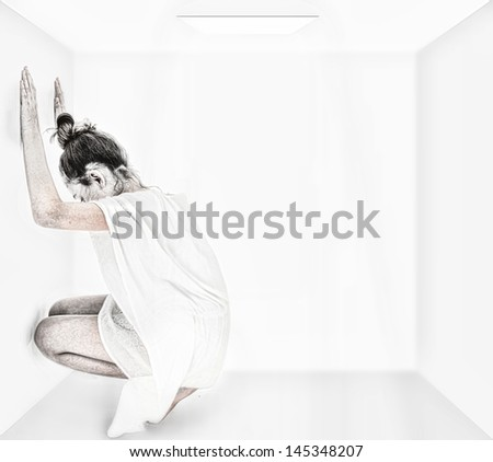 Abstract Concept Lonely Autism or Depression - stock photo