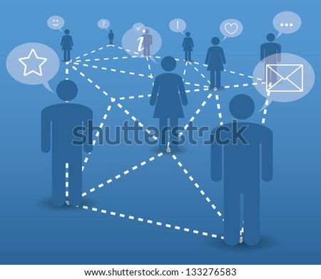 abstract concept. modern communication in the network.(vector version also available in my gallery) - stock photo