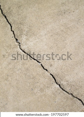Abstract concrete floor background with cracks - stock photo