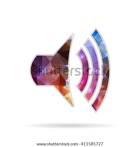 Abstract Creative concept icon icon volume for Web and Mobile Applications isolated on background. illustration template design, Business infographic and social media, origami icons. - stock photo