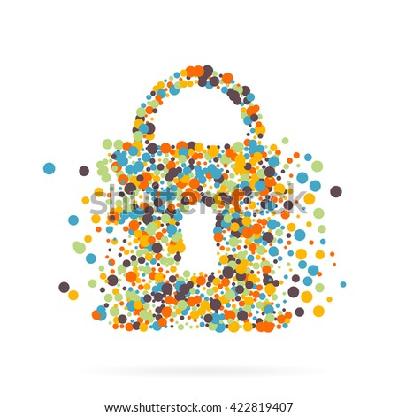 Abstract creative concept icon of padlock for Web and Mobile Applications. Art illustration creative template design, Business software and social media infographic. - stock photo