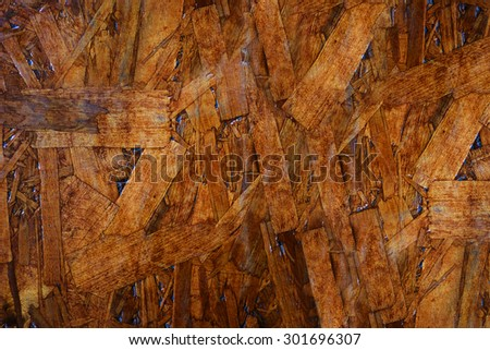 Abstract crisscross wooden old basket lacquered background texture. - stock photo