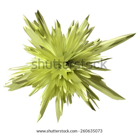 abstract crystal form -lime - stock photo