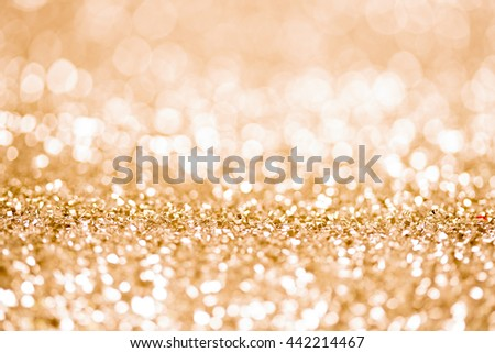 abstract crytal background gold bokeh circles - stock photo