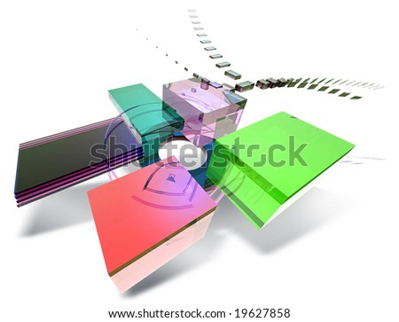 Abstract cube form for education. - stock photo