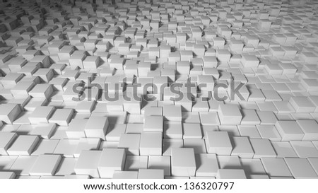 Abstract cubes background - stock photo