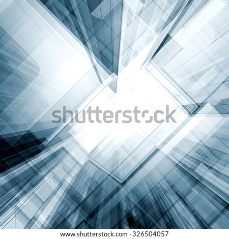 Abstract 3d. Architecture design and model my own - stock photo