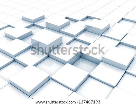 Abstract 3d blocks background - stock photo
