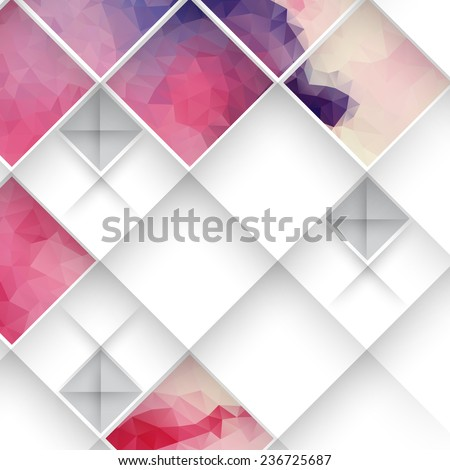 Abstract 3D Geometrical Design - stock photo