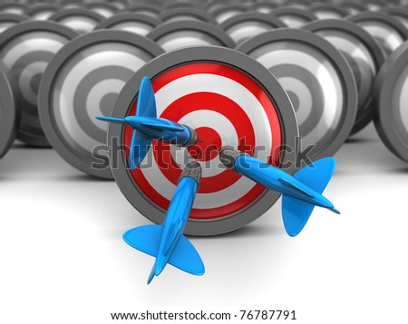 abstract 3d illustration of choice right target concept - stock photo