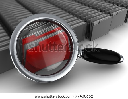 abstract 3d illustration of information searching concept - stock photo