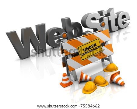 abstract 3d illustration of website construction concept - stock photo