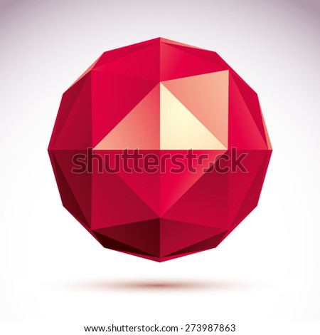 abstract 3D object, design element template for technology theme projects - stock photo