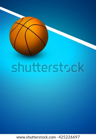 Abstract 3D rendering baseball sport invitation poster or flyer background with empty space - stock photo