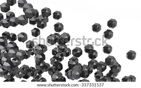 Abstract 3d rendering on white background - stock photo