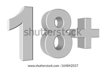 Abstract 3d 18 warning - stock photo
