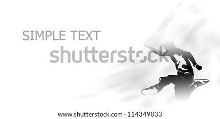 Abstract dancing - stock photo