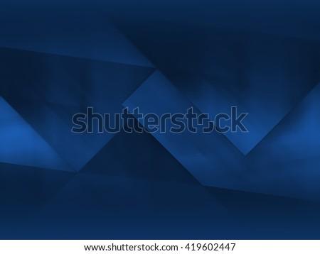 Abstract dark blue polygonal mosaic background, creative design template - stock photo