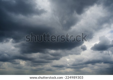 Abstract dark clouds before raining. dramatic sky background. - stock photo