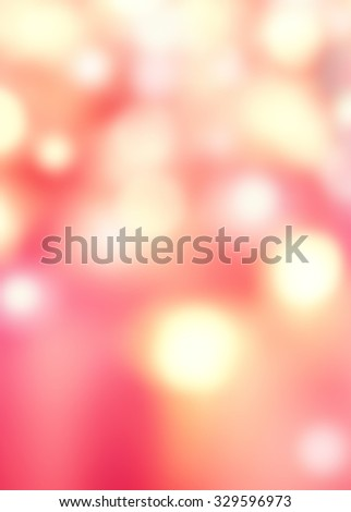 Abstract De focused Background with Blurred Bokeh texture and festive red and golden lights - stock photo