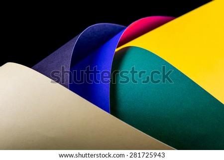 abstract decorative color paper shapes texture background - stock photo