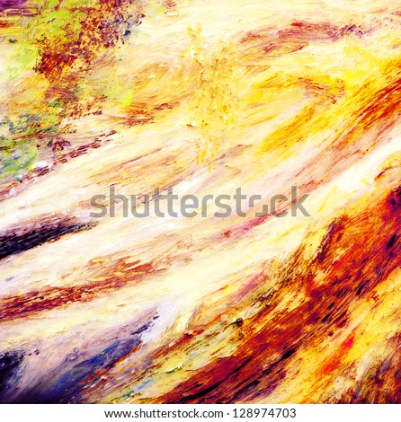 Abstract decorative painting - stock photo