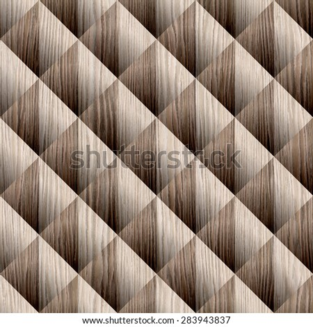 Abstract decorative pattern - seamless background - Blasted Oak Groove wood texture - stock photo