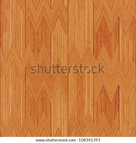 Abstract decorative wooden textured parquet background. Seamless tiling. Illustration. - stock photo