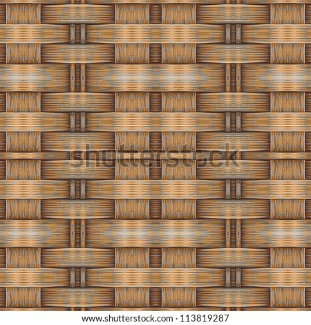 Abstract decorative wooden textured weaving backgroound. Seamless pattern. Illustration. - stock photo