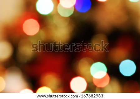 Abstract defocused background colorful and blurred bokeh from Christmas lights - stock photo
