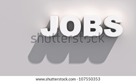 Abstract demonstration of jobs - stock photo