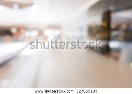 Abstract Department store blurred background with bokeh in shopping mall. - stock photo