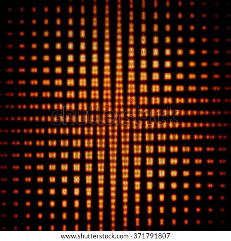 Abstract design background,a grid of dots and shapes - stock photo