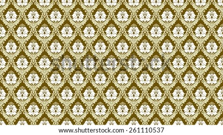 abstract design based on antique damask patterns - stock photo