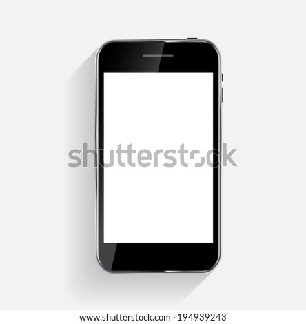 Abstract Design Mobile Phone.  Illustration - stock photo
