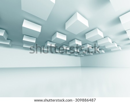 Abstract Design Modern Interior Background. 3d Render Illustration - stock photo