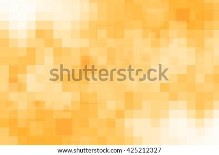 abstract design on yellow background - stock photo