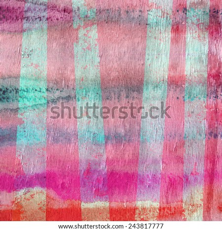 abstract design stripes with wood grain texture - stock photo