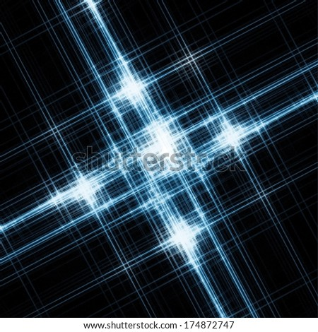 Abstract diagonal overlapped striped illustration - stock photo