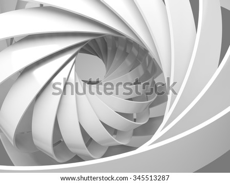 Abstract digital background with round 3d spiral structure - stock photo
