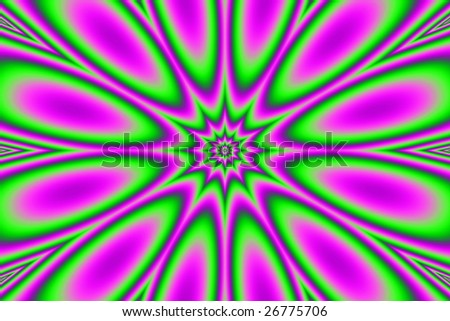 Abstract digital computer generated fractal - stock photo