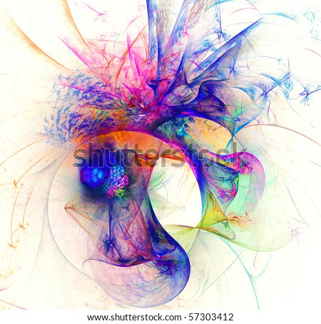 Abstract digital fractal background - stock photo