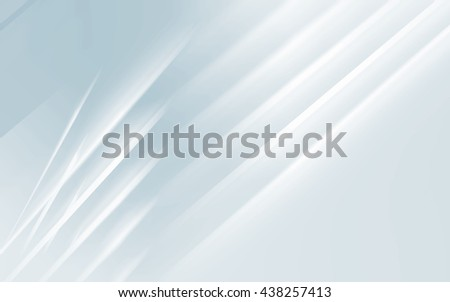 Abstract digital geometric background, blue and white shining blurred lines pattern, 3d illustration - stock photo