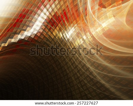 Abstract digital technology background. Red over black. - stock photo