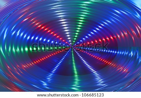 abstract disco light rotation, discotheque diversity - stock photo