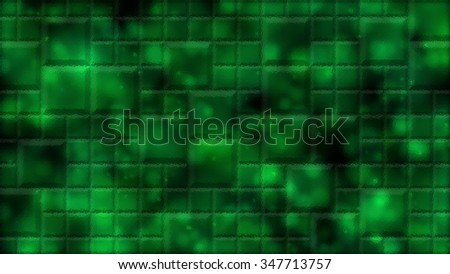 Abstract Distorted Tiled Background Illustration - Green - stock photo