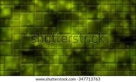 Abstract Distorted Tiled Background Illustration - Yellow - stock photo